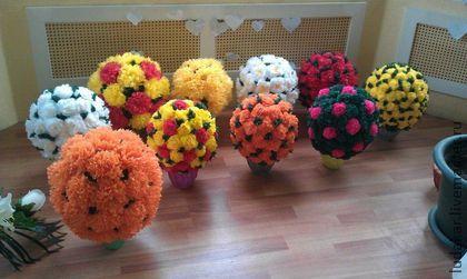 Цветочные топиарии своими руками фото